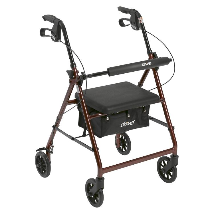 Drive Medical Rollator Rolling Walker with 6