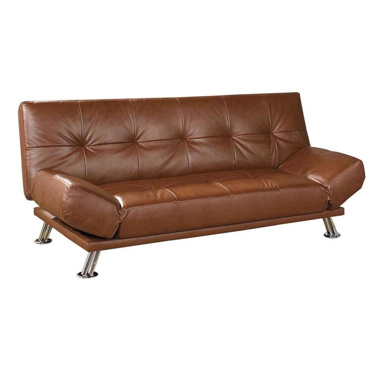 ORE International Leather Futon Sofa Bed by OJ merce $993 99