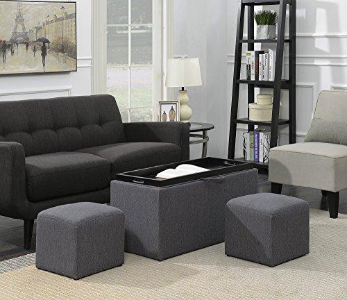 Designs4Comfort Sheridan Storage Bench w/ 2 Side Ottomans