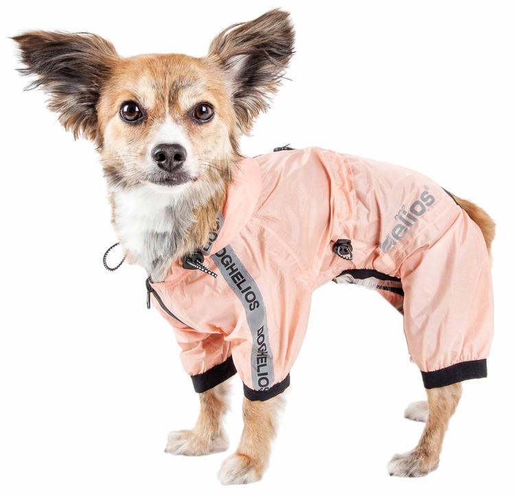 Dog Helios ® 'Torrential Shield' Waterproof Multi-Adjustable Full Bodied Pet Dog Windbreaker Raincoat