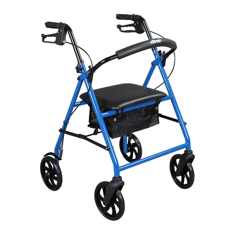 Drive Medical Steel Rollator Rolling Walker with 8