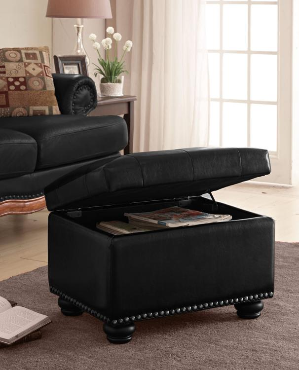 Tremendous Convenience Concepts Designs4Comfort 5Th Avenue Storage Ottoman Black Short Links Chair Design For Home Short Linksinfo