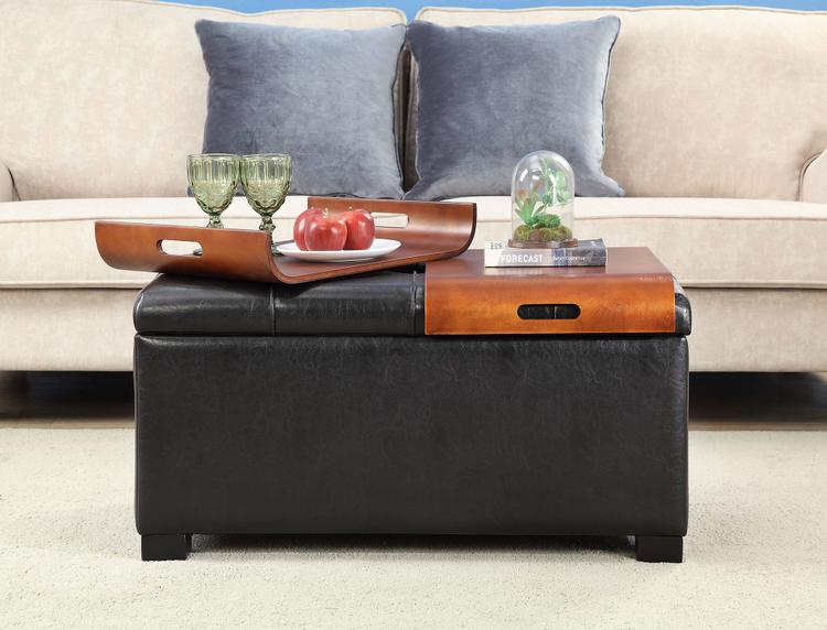 Convenience Concepts Storage Ottoman With Trays