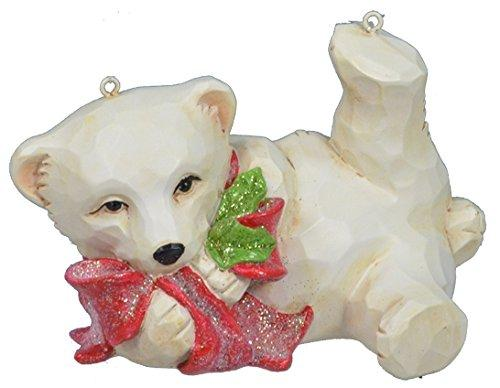 Playing Xmas Polar Bear D?cor