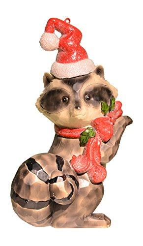 Posting Xmas Raccoon Figurine