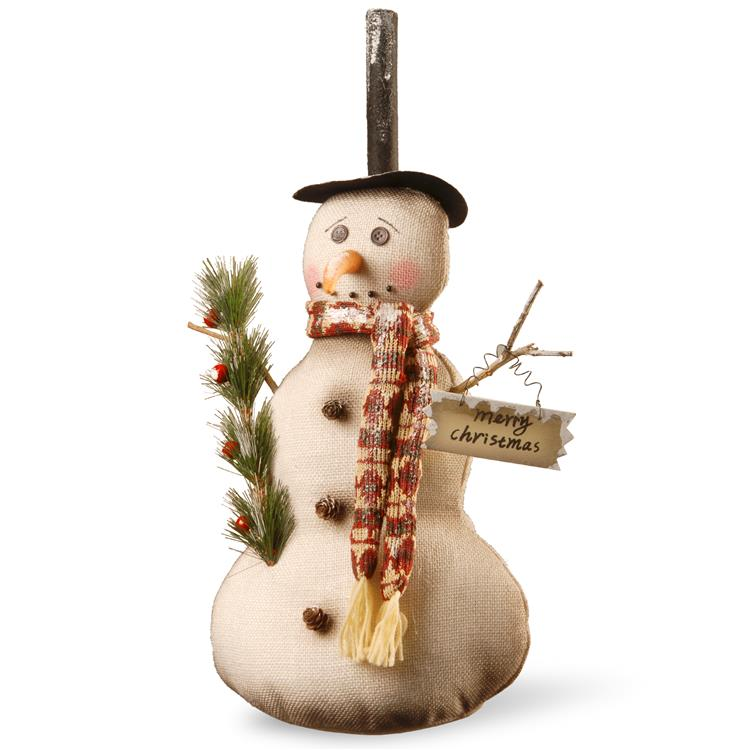 National Tree 20 inch Fabric Snowman