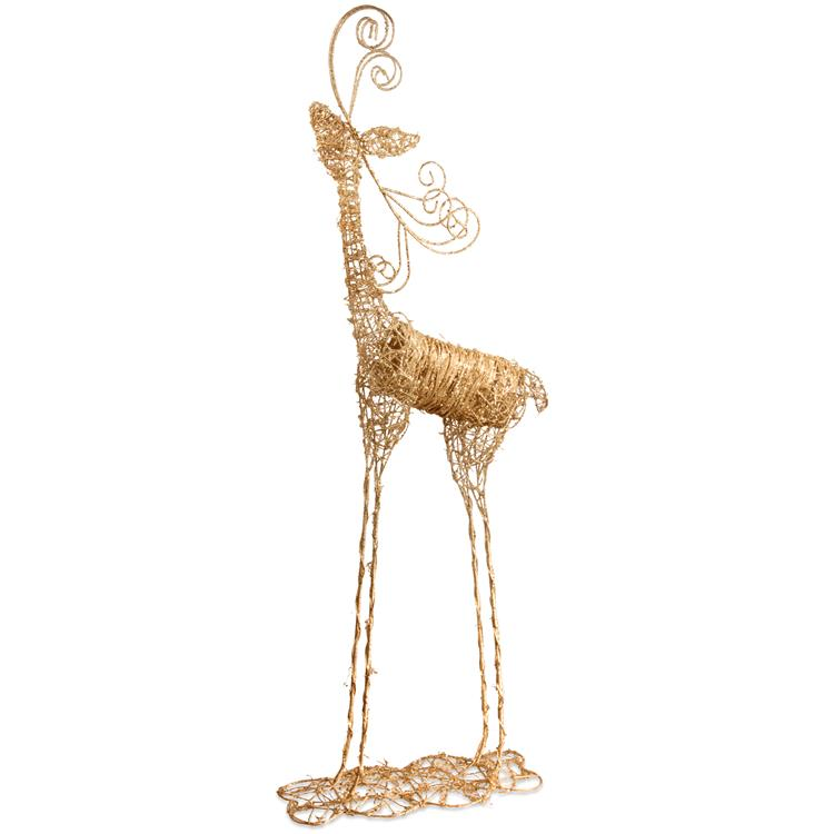 National Tree 51 inch Rattan Reindeer