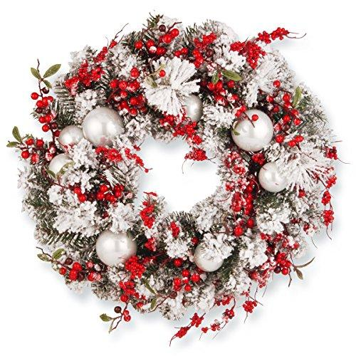 National Tree 27 Inch Hydrangea Pine Wreath