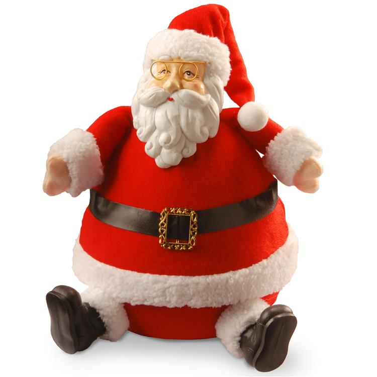 National Tree 13 inch Sitting Santa