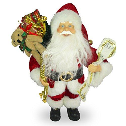 National Tree 11.5 Inch Standing Santa with Toys