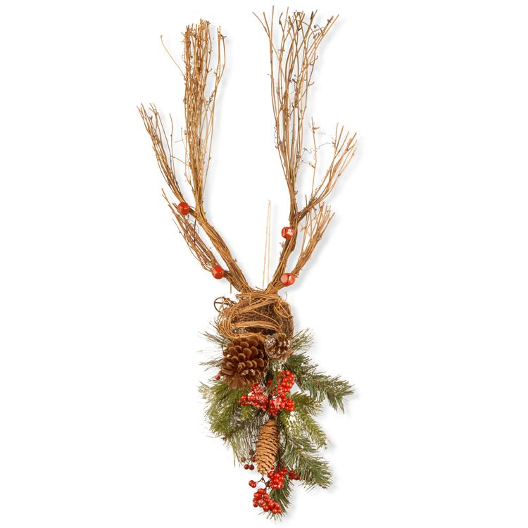 National Tree 35 inch Christmas Deer Decoration