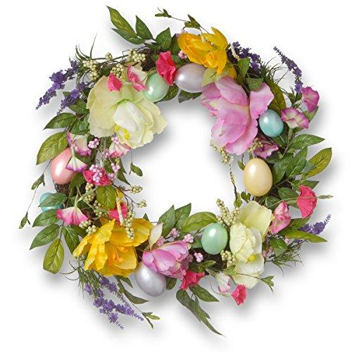 National Tree Easter Eggs and Tulips Wreath