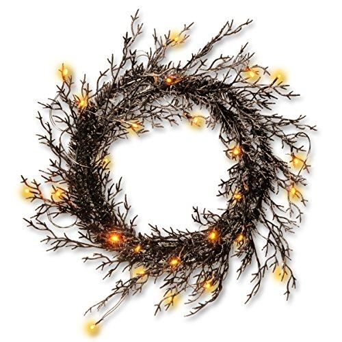 National Tree Halloween Wreath with Lights