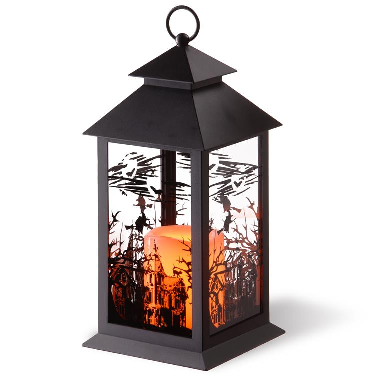 National Tree 12 inch Halloween Lantern with Candle