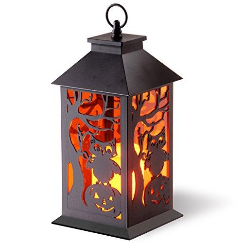 National Tree Halloween Lantern with Candle