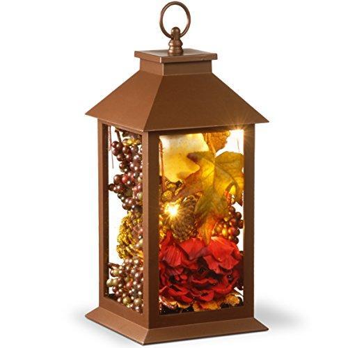 Autumn Lantern Décor with LED Lights
