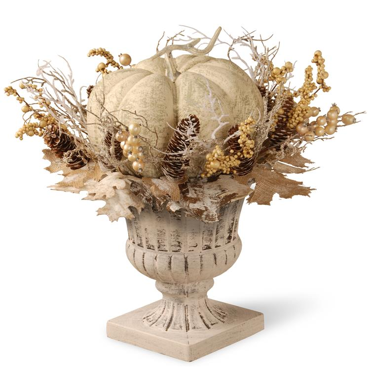 National Tree 18 inch White Pumpkin Decor [Item # RAHV-D060740A]