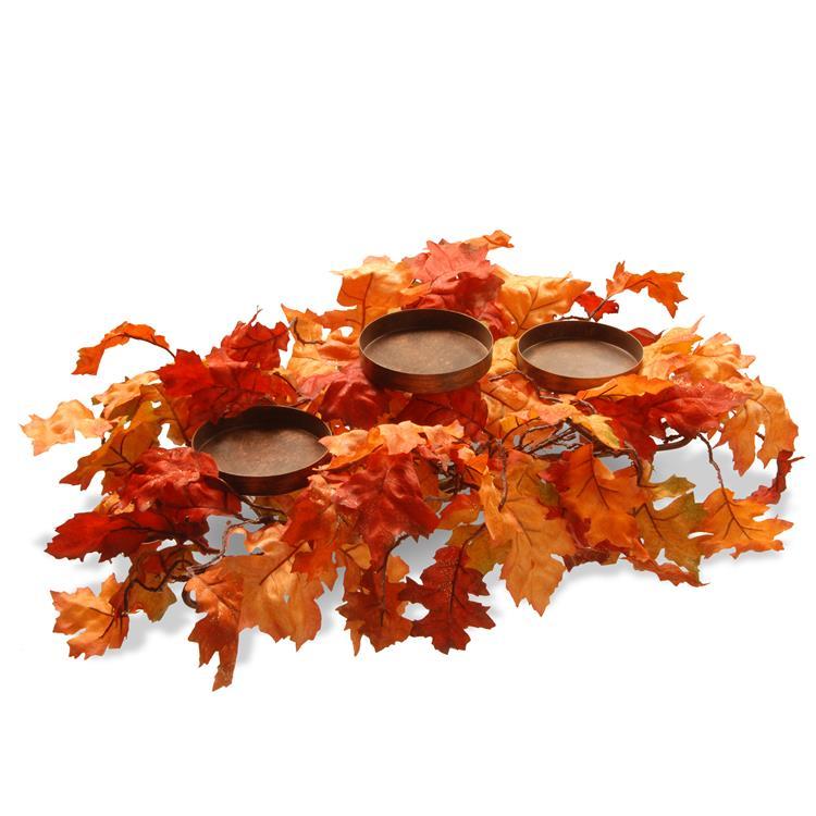 National Tree 22 inch Maple Leaf Candleholder [Item # RAHV-E060280B]