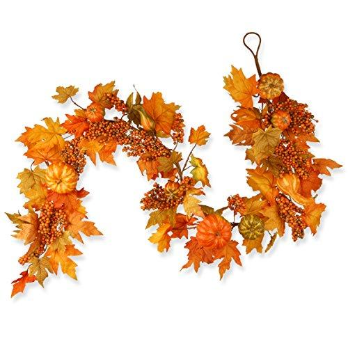 National Tree Maple Leaf, Pumpkin and Berry Garland