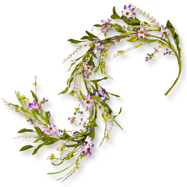National Tree 5 ft Spring Purple Flower Garland