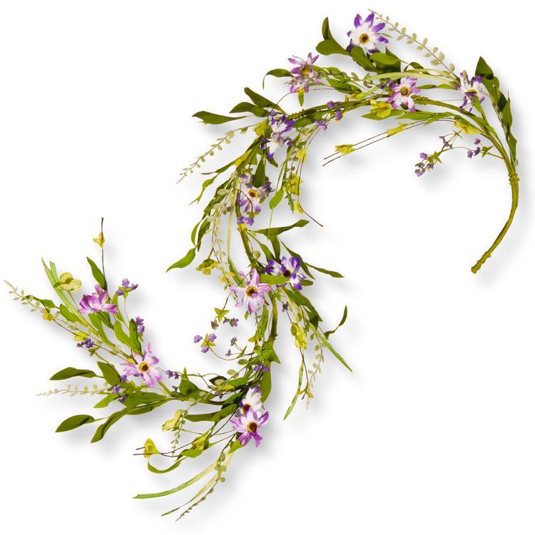 National Tree Spring Purple Flower Garland