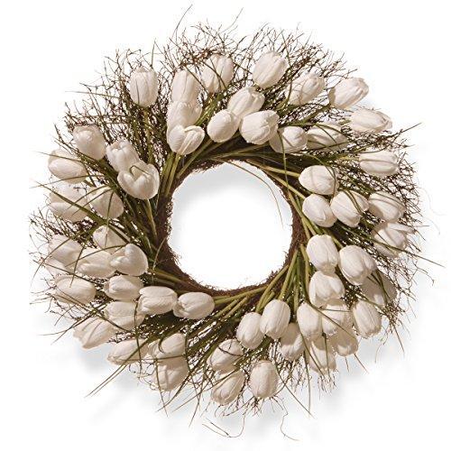 National Tree White Tulip Wreath