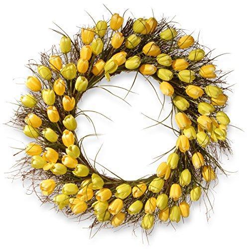 National Tree Yellow Tulip Wreath
