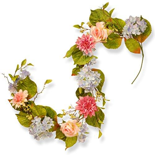 National Tree Hydrangea, Rose and Dahlia Garland