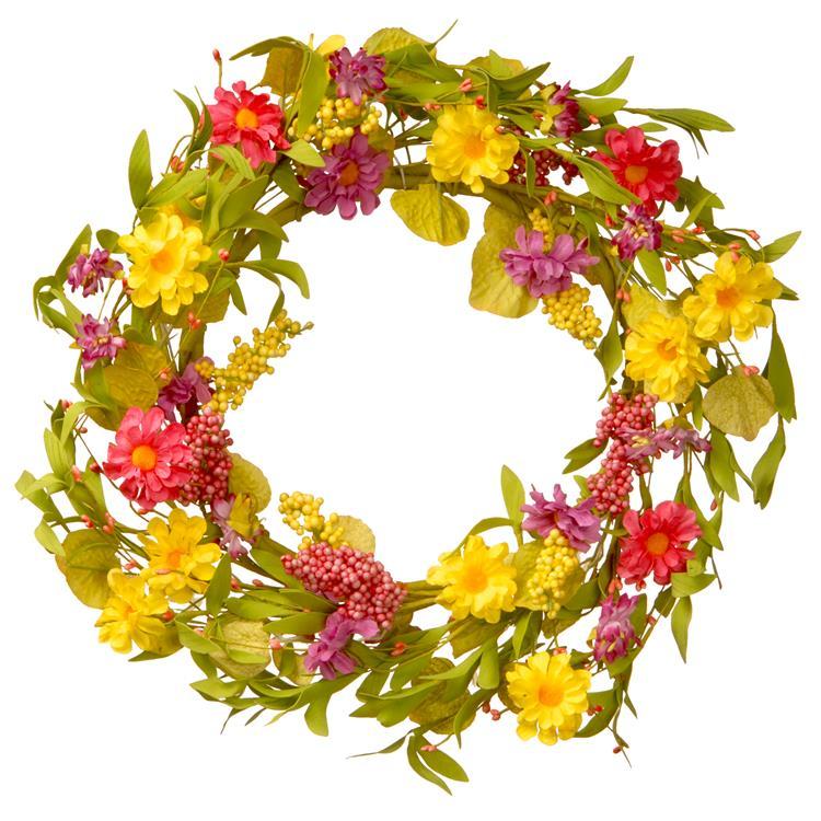 National Tree 20 inch Multicolor Daisy Wreath [Item # RAS-JXW8925]