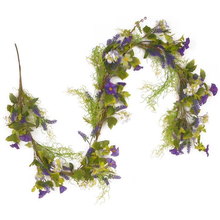 National Tree Purple Flower Garland