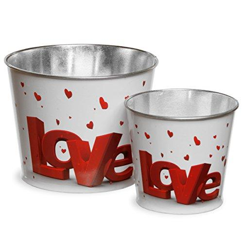 National Tree Valentine's Motif Tin Pots