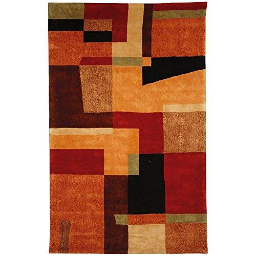Contemporary Rug - Rodeo Drive Wool Pile -Multi