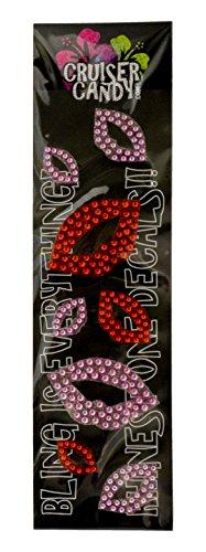 Bling Sugar Lips Bicycle Decals