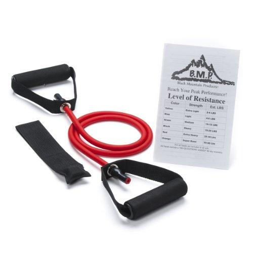 Black Mountain Products Single Resistance Band - Door Anchor and Starter Guide Included 25-30lbs