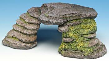 Penn Plax The Reptology Terrarium Hide-Outs - Shale Step Cave - Small [Item # REP181]