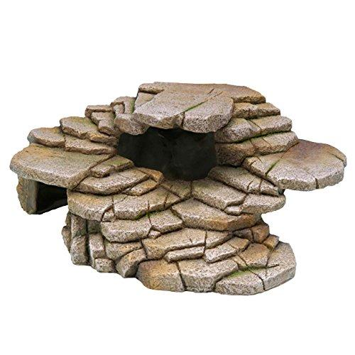 Penn Plax The Reptology Terrarium Hide-Outs - Shale Step Cave - Medium