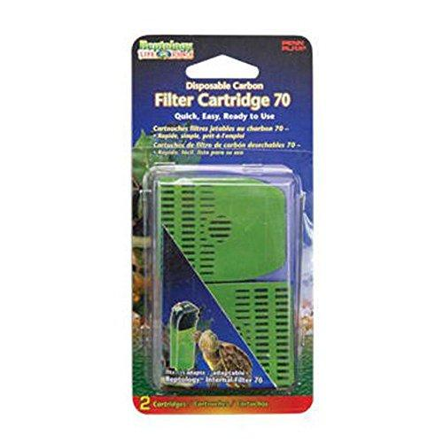 Penn Plax The Reptology Internal Filter Carbon Replacement Cartridges 2 Pack [Item # REP72]