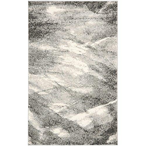 Contemporary Rug - Retro Polypropylene -Grey/Ivory
