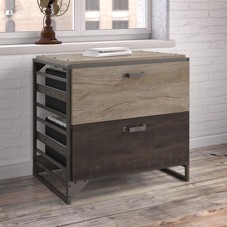 Bush Furniture Refinery Lateral File Cabinet