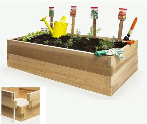 4 Ft. Double Raised Garden Bed - Cedar Vegetable Boxes