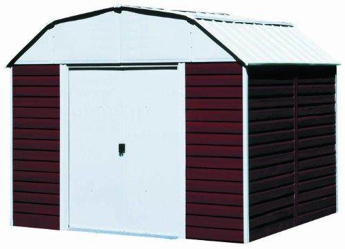 Arrow Sheds Red Barn, 10x14, Electro Galvanized Steel, Red / Eggshell, Gambrel Gable, 71.3
