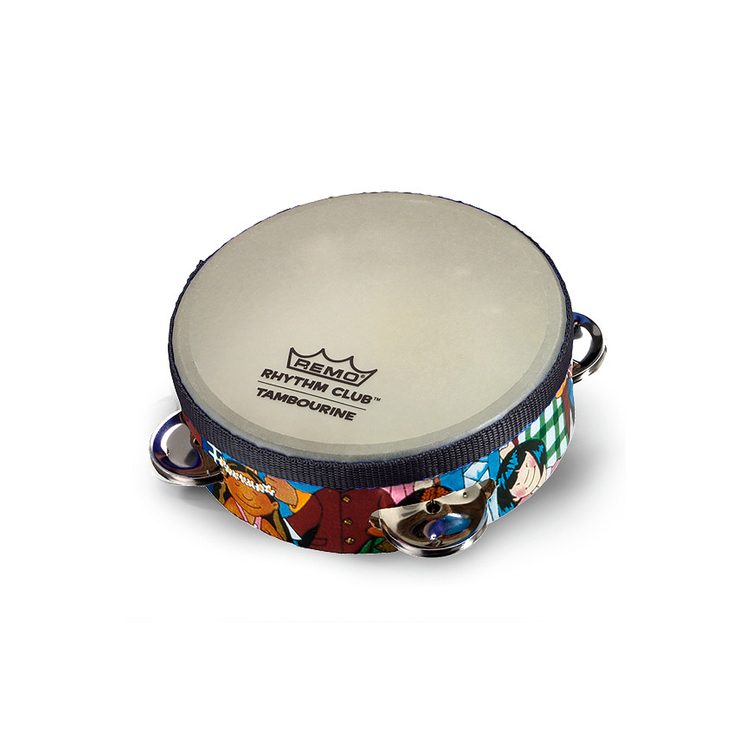 Remo Rhythm Club Tambourine w/ 4 Sets Jingles 6