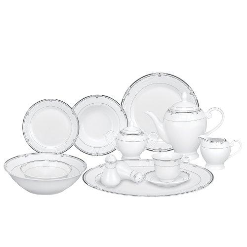 57 Piece Porcelain Dinnerware Set, Service for 8 by Lorren Home Trends [Item # Rio]