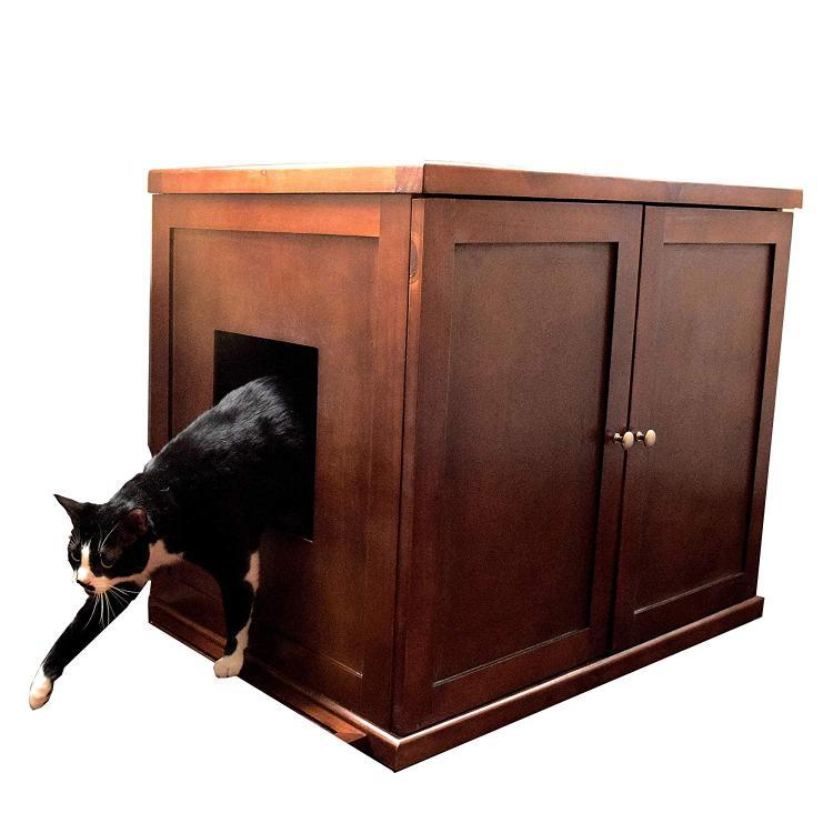 The Refined Feline Refined Litter Box - xLarge - Mahogany [Item # RLBE-MA]