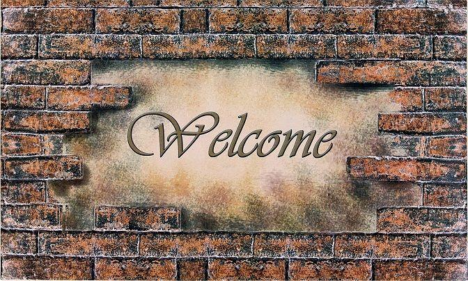 Welcome Bricks Outdoor Rubber Entrance Mat [Item # RM1830WB06]