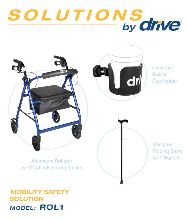 Mobility Safety Solution Rollator [Item # ROL1]