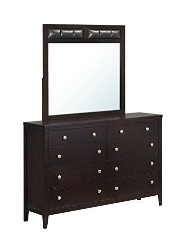 Global Furniture Mirror Antique Black/Puv Black