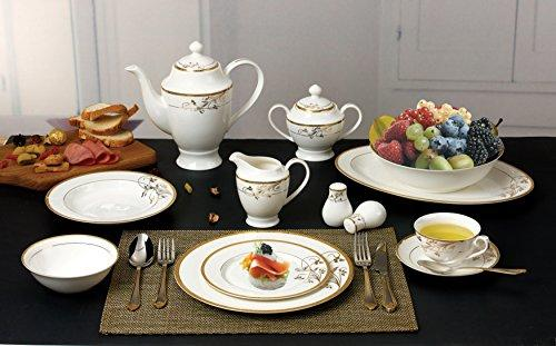 La Luna Bone China 57 Piece 24K Gold Floral Design Dinnerware Set Service for 8  sc 1 st  OJ Commerce & Dinnerware Sets - Dining u0026 Entertaining | OJCommerce