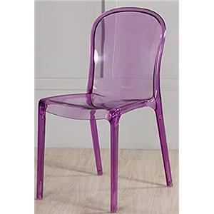 Commercial Seating Products Genoa Polycarbonate Dining Chair - Purple