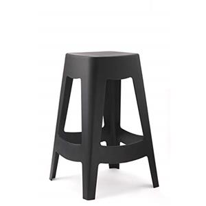 Commercial Seating Products Polypropylene Stackable Minimal & Modern Backless Desi Stool